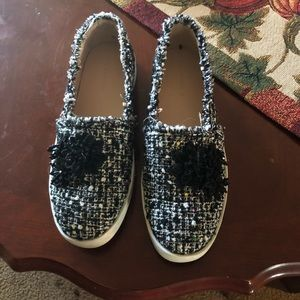 Zara loafers with beads detail